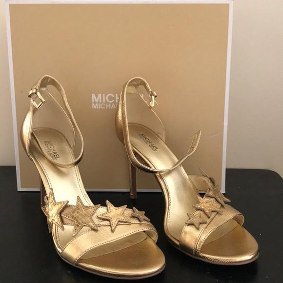 Nwb Michael Michael Kors Lexie Gold